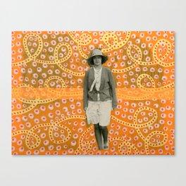 Lost Into The Fluo Jungle Canvas Print