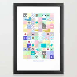 For Japan with love Framed Art Print