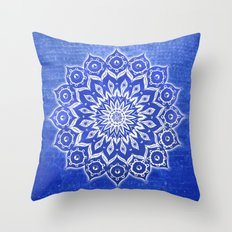 okshirahm, blue crystal Throw Pillow