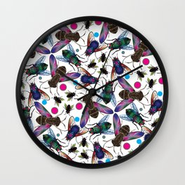 Flies Wall Clock