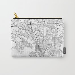 Victoria Map, Canada - Black and White  Carry-All Pouch