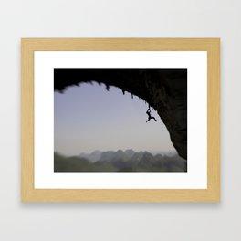 Shoulin Cliffhanger by Boone Speed Framed Art Print
