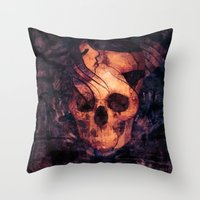 mortal instruments Throw Pillows featuring Mortal Sin by Sirenphotos