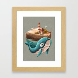 adventure begins Framed Art Print