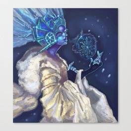 Snow Queen and a SnowFlake Canvas Print