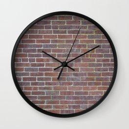Worn Brick Surface Wall Clock