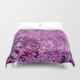 Monochrome Purple Duvet Cover
