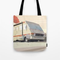 breaking bad Tote Bags featuring Breaking Bad by Fabiano Souza