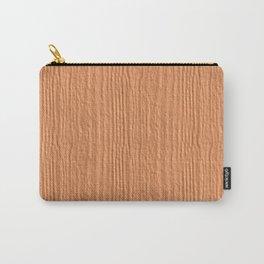 Peach Cobbler Wood Grain Color Accent Carry-All Pouch