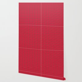 Red with White Grid Wallpaper