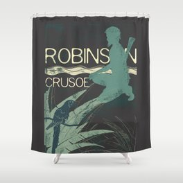 Books Collection: Robinson Crusoe Shower Curtain