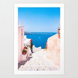 Summer In Santorini Art Print