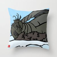 seal Throw Pillows featuring Seal by Mel McIvor