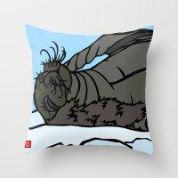 seal Throw Pillows featuring Seal by Mel McIvor