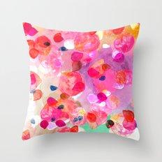Candy Petals Throw Pillow