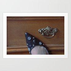 Rhinestoned Right Shoe Art Print