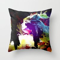 philosophy Throw Pillows featuring Philosophy of Adoration by DJ Carey