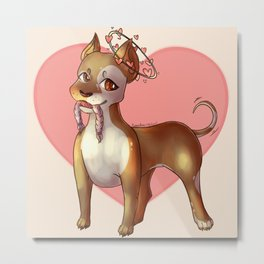 Pittie Love Metal Print