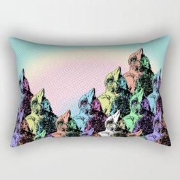 Contra Mundum Rainbow Magpies! Rectangular Pillow