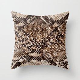 TEXTURED SNAKE PRINT Throw Pillow