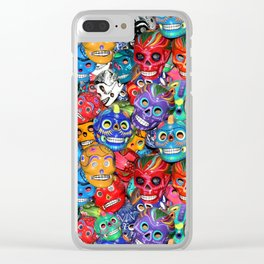 Calaveras Pequeñas - Little Sugar Skulls Clear iPhone Case