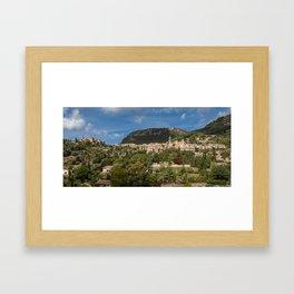 Valldemossa village Mallorca Framed Art Print