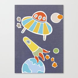 space flying Canvas Print