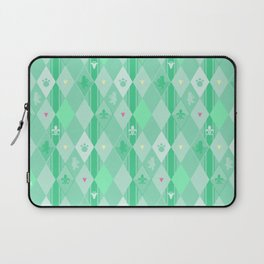 Green Lily Bear Laptop Sleeve