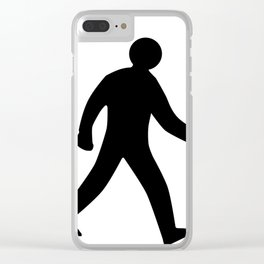 Walking Man Silhouette Clear iPhone Case