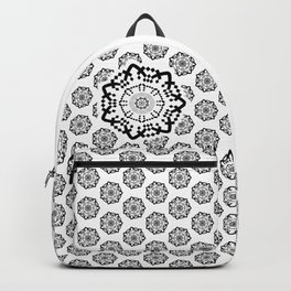 Aztec Mandala [BW VAR] Backpack