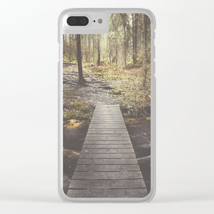 My home, the forest Clear iPhone Case
