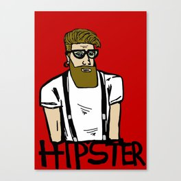 Hipster icon Canvas Print