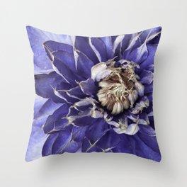 Spikey Blue Throw Pillow