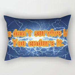 MS: It's not about survival... Rectangular Pillow