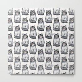 cat kitten pattern Metal Print