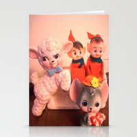 pixies Stationery Cards featuring Pixies gathers with lamb and mouse by Vintage  Cuteness