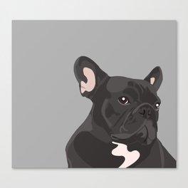 French Bulldog - Grey Canvas Print