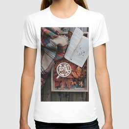 Marshmallows, Hot Chocolate, Autumn T-shirt