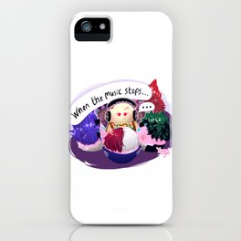 When the music stops... iPhone Case