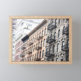 West Village Apartments in Early March Framed Mini Art Print
