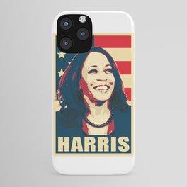 Kamala Harris Happy American iPhone Case
