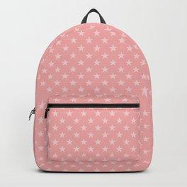 Light Pink Stars on Dark Blush Pink Backpack