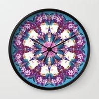 nouveau Wall Clocks featuring Nouveau by Kundalini Arts