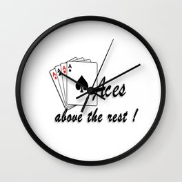 Aces Above the Rest Wall Clock