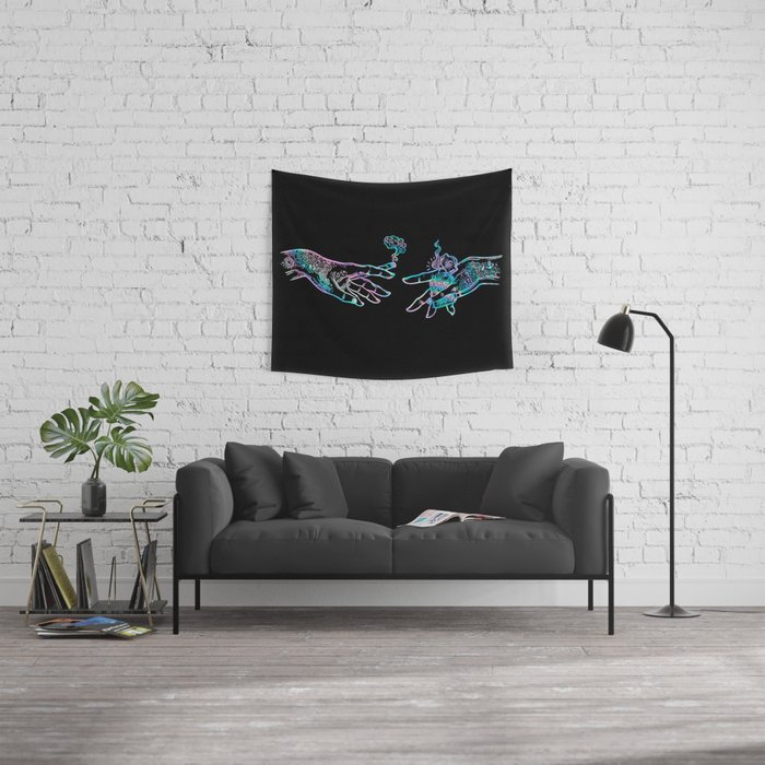 the Creation of Cannabis- holographic Wall Tapestry