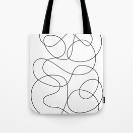 Minimal Black and White Abstract Line Tote Bag