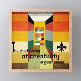 The enemy of creativity Framed Mini Art Print