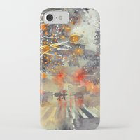 takmaj iPhone & iPod Cases featuring WINTER IN THE CITY by takmaj