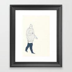 girl with an ice cream Framed Art Print