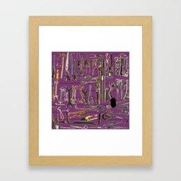 Purple Tools Framed Art Print